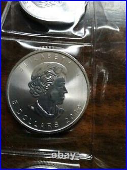 10 Unzen Silber 10x 1Oz Maple Leaf 2019 Kanada 9999 fine silver