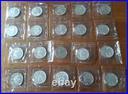 1989 RCM SEALED Roll 20 Canada SILVER CANADIAN MAPLE LEAF 1 Oz. 9999 $5 Coin Lot