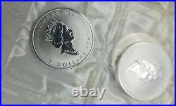 1998 Canada 1 oz Silver Maple Leaf Lunar Tiger Privy Sheet of 10 pcs