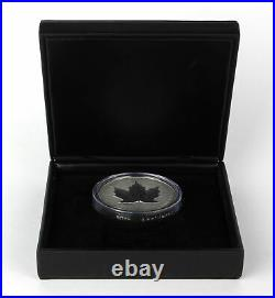 1998 Canada $50 10th Anniv. Maple Leaf 10 oz. 999 Fine Silver Coin with Case