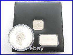 1998 Canada Maple Leaf 10th Anniv $50 Fifty Dollar Silver 10oz Coin Box Coa
