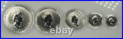 2003.999 Silver Maple Leaf Hologram 5 Coin Set in Wood Box with COA