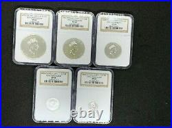 2003 Canada Silver Maple Leaf Hologram Set- 5.9999 Fine Silver Coins NCG