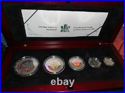 2003 Silver Maple Leaf Hologram Set Royal Canadian Mint