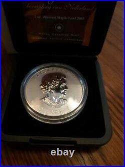 2005 Silver Maple Leaf Tulip Triple Privy Royal Canadian Mint Only 3500 Minted