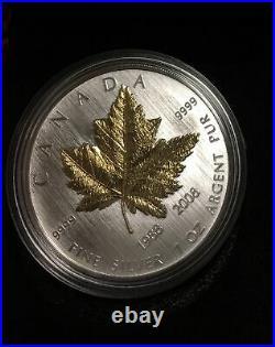 2008 Canada $5 Maple Leaf 1 oz Pure Silver 20th Anniversary