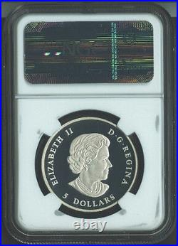2013 CANADA MAPLE LEAF HIGH RELIEF PIEDFORT FR 1 oz Silver $5 Coin NGC PF70 UC