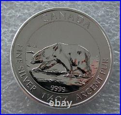 2013 CANADA Silver Maple Leaf 1.5 Oz Polar Bear $8 Dollars BU Roll Of 15