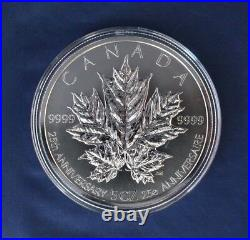 2013 Canada 5oz Silver Proof $50 coin Maple Leaves in Case with COA