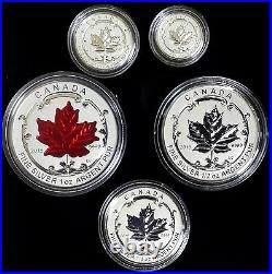 2015 Canada Fine Silver Fractional Set The Maple Leaf! 5 pc 0.9999 fine silver