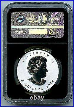 2016 $5 Canada Silver Maple Leaf Ngc Pf70 Roaring Grizzly Privy Reverse Proof