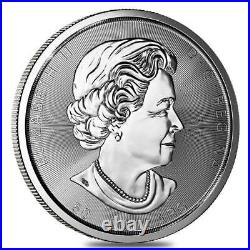 2017 10 oz. $50 Canada Maple Leaf SILVER. 9999 coin Pristine Condition