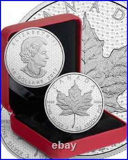 2017 2OZ Iconic Maple Leaf Canada 150th Birthday $10 Pure Silver Coin