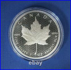2017 Canada 2oz Silver Proof $10 coin Iconic Maple Leaf in Case with COA