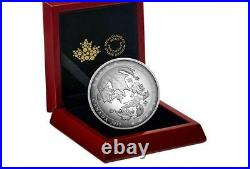 2017 Canada $50 Dollars 9999 silver 5 Oz Coin Convex Maple Leaves in Motion