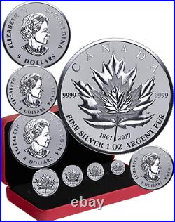 2017 Maple Leaf Tribut 4-Coins Fractional Set Pure Silver Proof Canada