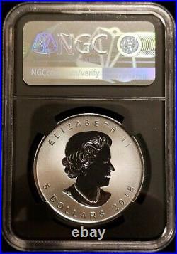 2018 Canada Silver Maple Leaf Coin Incuse Design 30th Anniversary FDOI NGC MS70