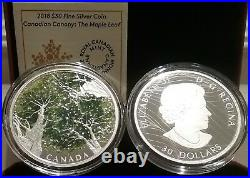 2018 Maple Leaf Canopy CanadiANA $30 2OZ Pure Silver 50mm Proof Coin Canada