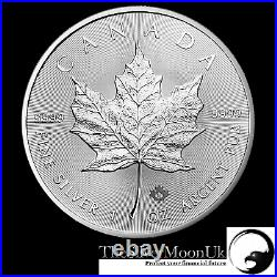 2019 1oz Canadian Silver Maple Leaf 1 ounce Silver Bullion Coin unc in CAPSULE