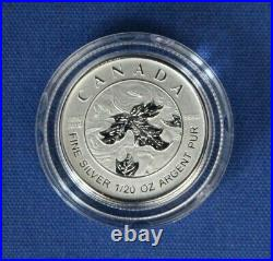 2019 Canada Silver Proof Maple Leaf 5 coin Set in Case with COA