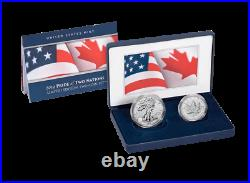 2019 Pride of Two (2) Nations US $1 Silver Eagle & $5 Maple Leaf in OGP