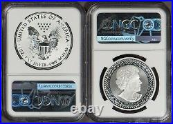 2019 Pride of Two Nations 2pc Set Eagle & Maple Leaf NGC PF 70 SKU-X1357