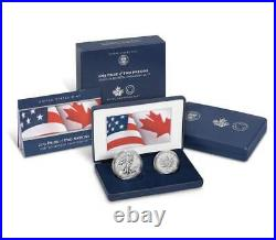2019 Pride of Two Nations Eagle Enhanced Reverse Proof/Maple Leaf SOLD OUT