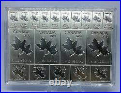 2019 Silver Maple Leaf 2 oz Canadian Mapleflex Silver CombiBar. 9999 fine RARE