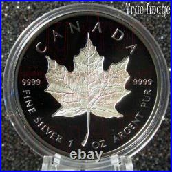 2020 Maple Leaf $20 Rhodium-Plated Double-Incuse Pure Silver Proof Coin Canada