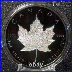 2020 Maple Leaf $50 3 OZ Rhodium-Plated Double-Incuse Silver Proof Coin Canada