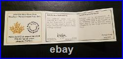 2020 Proof $20 Silver Canada Maple Leaf Incuse 1 oz Rhodium Finish NGC PF70 FDOP