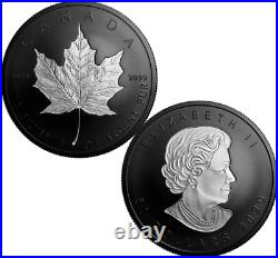 2020 Silver Maple Leaf Double-Incuse Rhodium-Plated $50 3OZ Silver Coin Canada