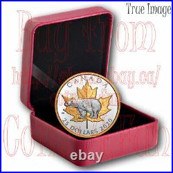 2020 Timeless Icons#4 Polar Bear Maple Leaf $25 Pure Silver Proof Piedfort Coin