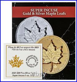 2021 Canada 1 oz Silver Maple Leaf Super Incuse Reverse PF $20 Coin NGC PF69 FR