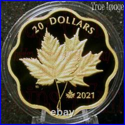 2021 Masters Club (G) Iconic Maple Leaves $20 Pure Silver Proof Gold-Plated Coin