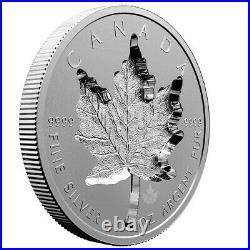 2021 Super Incuse Maple Leaf 25th Privy 1oz Pure. 9999 Silver Coin Canada