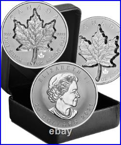 2021 Super Incuse Silver Maple Leaf SML $20 1OZ Silver Proof Coin Canada Privy25