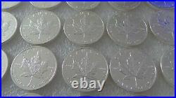 25 x 1oz. 999 SILVER 2012 CANADIAN MAPLE LEAF BULLION COINS UNCIRCULATED