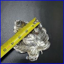 Blackinton Sterling Silver Nut Dish Set of 2 Maple Leaf Design #501