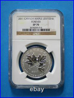 CANADA 2011 $10 Silver Maple Leaf Forever (NGC SP70)