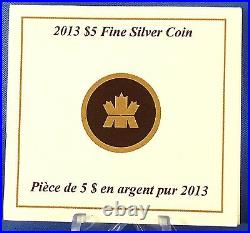 Canada 2013 $5 Maple Leaf Pure Silver with Gold Plating 25th Anniversary of SML