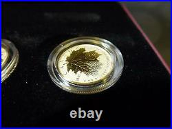 Canada 2014 Maple Leaf 5-coin Reverse Proof 99.99% Silver Set In Rcm Box + Coa