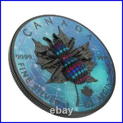 Canada 2020 5$ Maple Leaf Bejeweled SPIDER 1 Oz Silver Coin. 500 pcs only