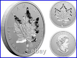 Canada 2021'Super Incuse Maple Leaf' Reverse-Proof $20 Silver Coin 1oz Fine