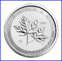 IN-HAND FAST SHIPPING 2021 10 oz Canadian Silver Magnificent Maple Leaf Coin