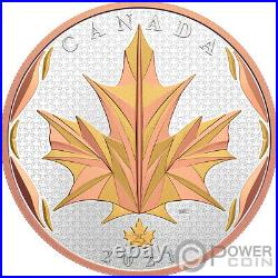MAPLE LEAVES IN MOTION 5 Oz Silver Coin 50$ Canada 2021