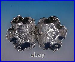 Maple Leaf by Reed and Barton Sterling Silver Nut Dish Double Bowl X102A (#4843)