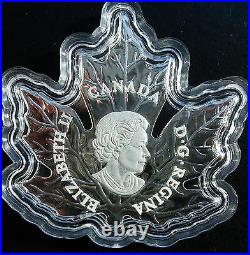 NEW 2016 Fine Silver The Canadian Maple Leaf shaped coin COLOURED