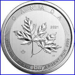 NEW 2021 10 oz Canadian Silver Magnificent Maple Leaf Coin BU SHIPS FREE NOW