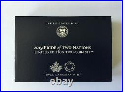 Pride of Two Nations 2019 Limited Edition Two-Coin Set 19XB Eagle Maple Leaf
